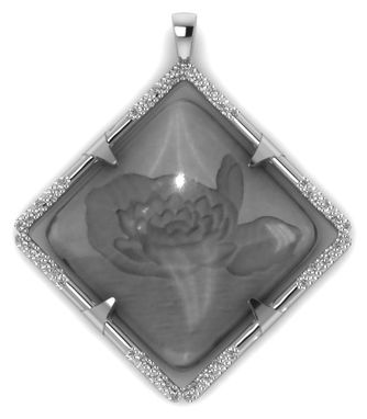 Custom Made Custom Lotus Blossom Pendant Necklace