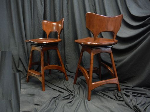 Custom Made Lake End Bar Stools With Swivel