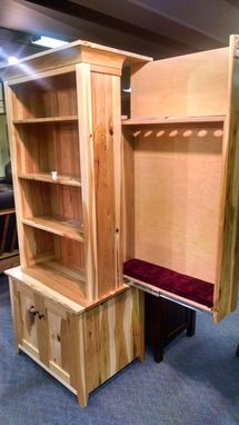 Buy a Hand Made Hidden Gun Cabinet Bookcase, made to order ...