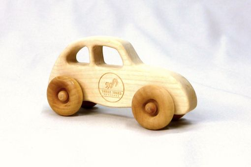 Custom Made Wooden Toy Love Bug - Customized With Name