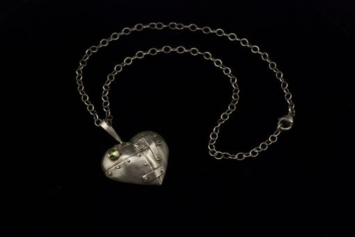 Custom Made Patched Heart With Peridot