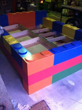 Custom Made Lego Bed For Kids, Childs Lego Bed