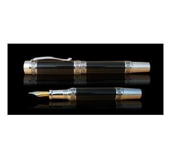 Custom Made Poet's Muse Pen - Hand Made Fountain Pens - Ebony - Africa