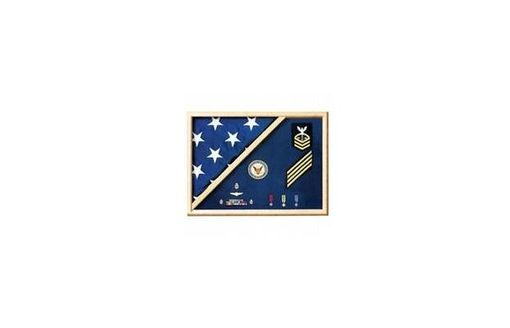 Custom Made Military Shadow Box, Military Medal Display Case