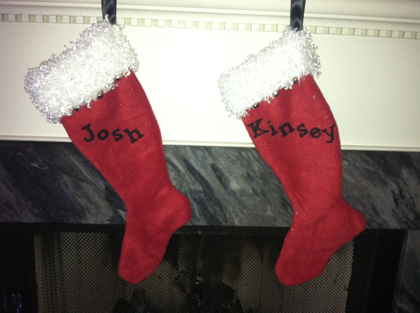 custom made hand embroidered christmas stockings