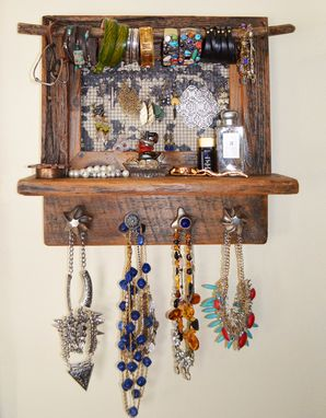Custom Made Reclaimed Wood Jewelry Holder