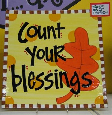 Custom Made Count Your Blessings Platter