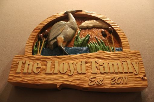 Custom Made Family Signs | Home Signs | House Signs | Cabin Signs | Heron Signs | Bird Signs | Custom Signs