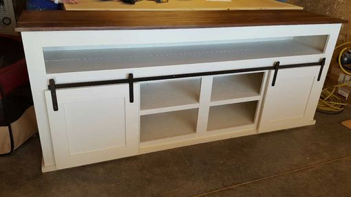 Custom Made Custom Buffet With Barn Doors