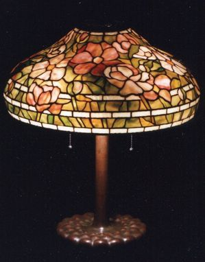 Custom Made Tiffany Reproduction Lamp. Spring Peony