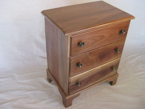 Custom Made Walnut Transitional Style Night Stand