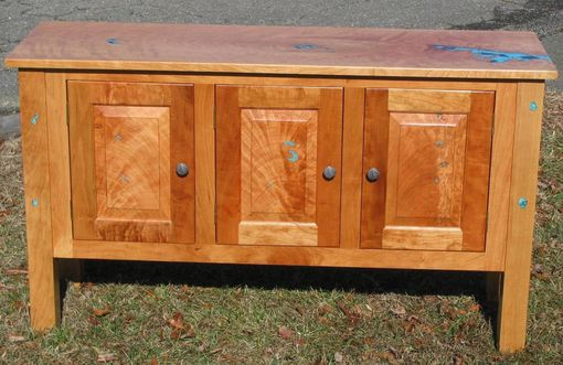 Custom Made Figured Cherry Console