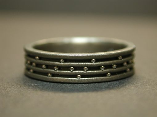 Custom Made Titanium Wedding Ring With Stainless Steel Balls