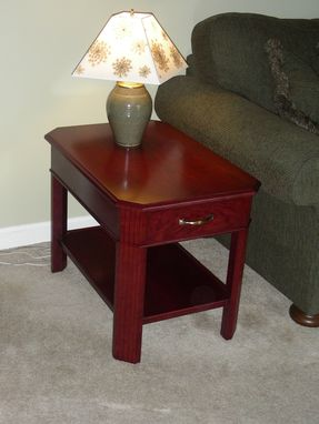 Custom Made Majestic End Table - Cherry