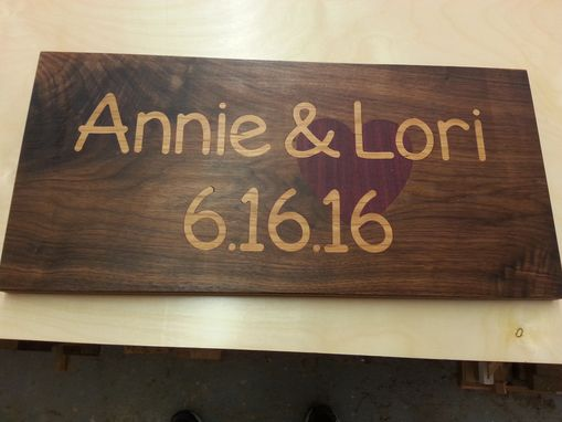 Custom Made Commemorative Cutting Board For Gift Or Centerpiece For Wedding