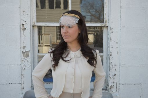 Custom Made Grecian Leaf Veil Headband