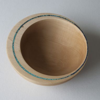 Custom Made Off-Centered Inlayed Wood Turned Bowls