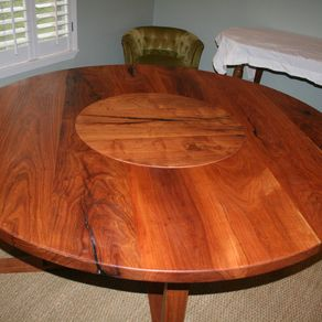 Buy a hand made white oak 72 round dining table with lazy susan round mesquite dinning table with a lazy susan by wes reynolds workwithnaturefo