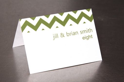 Custom Made Zig Zag Chevron Place Card - Escort Card