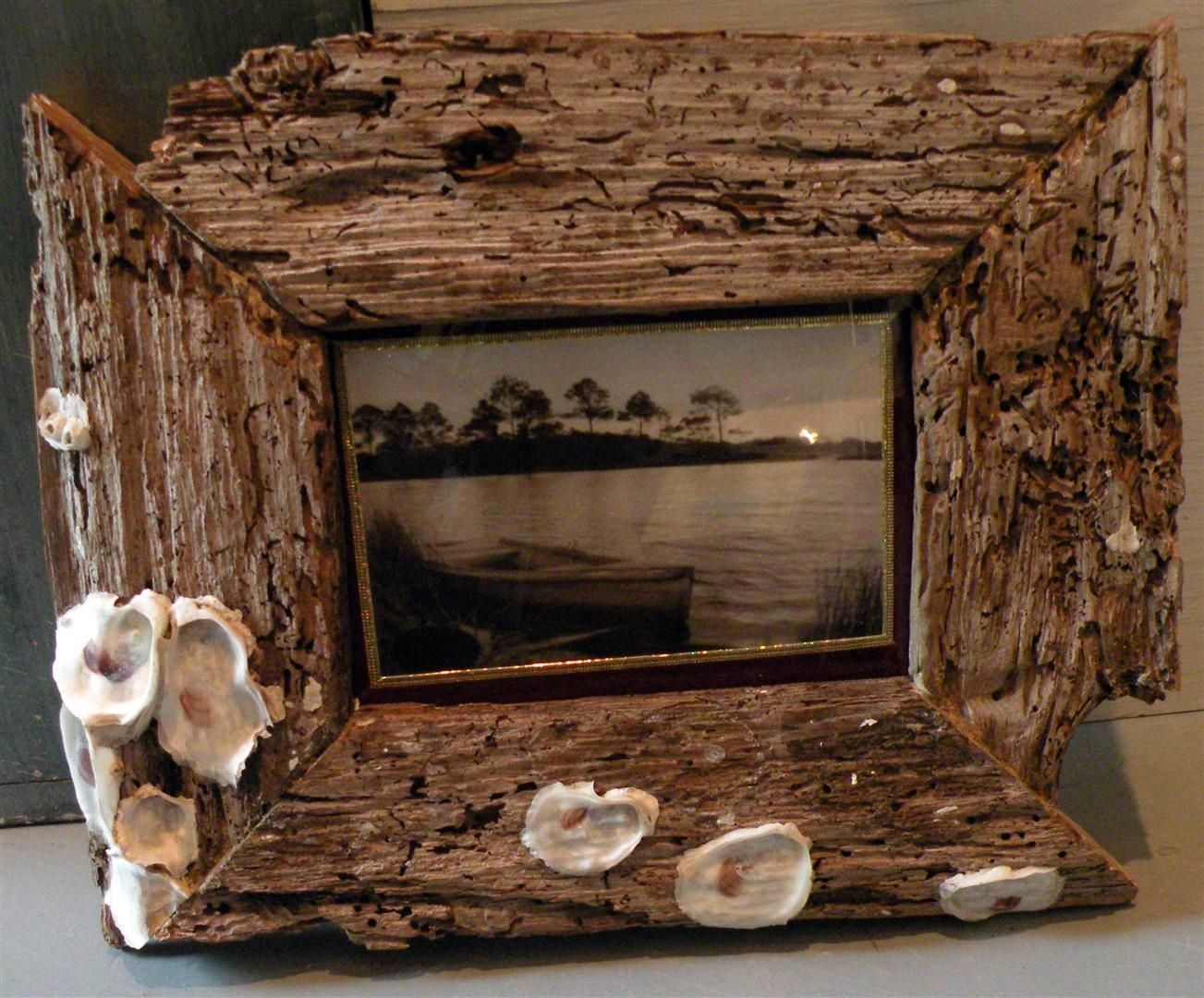 custom driftwood picture frames by walline enterprises. Black Bedroom Furniture Sets. Home Design Ideas