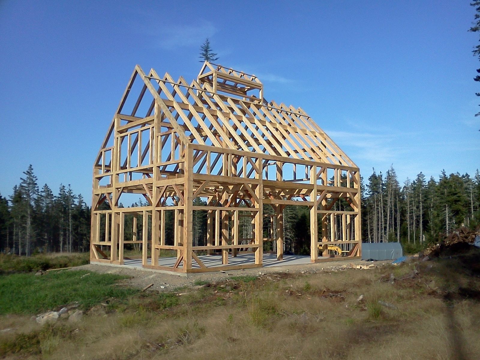 Custom Made 30 X 40 Timber Frame Barn W 6 X 12 Clerestory By