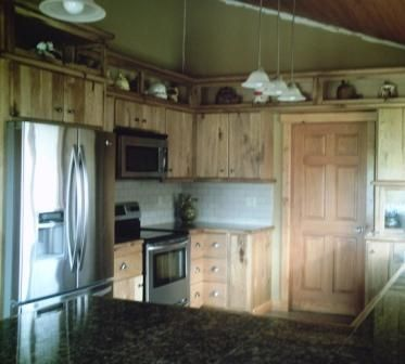 Custom Made Rustic Butternut Log Cabin Kitchen