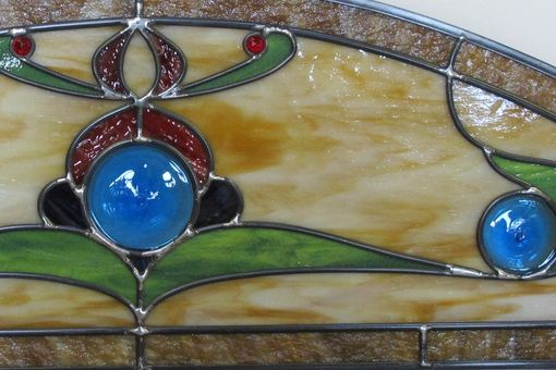 Custom Made Arched Stained Glass Bedroom Window