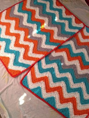 Custom Made Babylove Brand Chevron Blanket