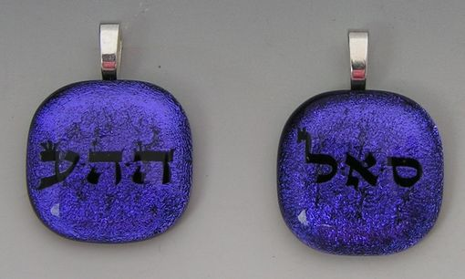 Custom Made Two Custom Charms Pendant Laser Etched Dichroic Glass