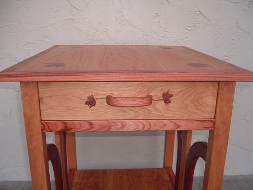 Custom Made Antikea Hand Inlaid Occasional Table