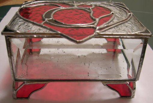 Custom Made Stained Glass Jewelry Box With Personalized Initial