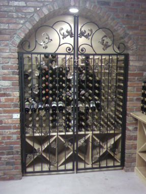 Custom Made Wrought Iron Tuscany Wine Gate