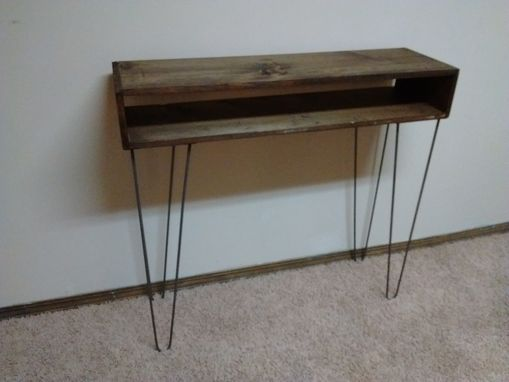 Custom Made Mid Century Console Table With Hairpin Legs