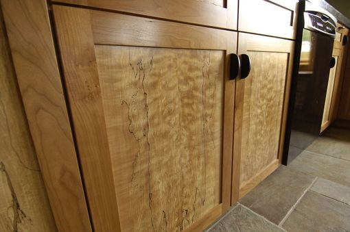 Custom Made Spalted Maple And Cherry Kitchen