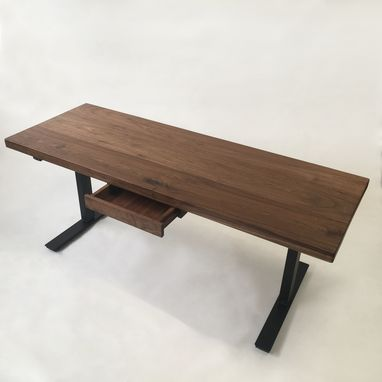 custom standing desk kidney shaped mid. modern adjustable standing desk walnut electric with drawer custom kidney shaped mid d