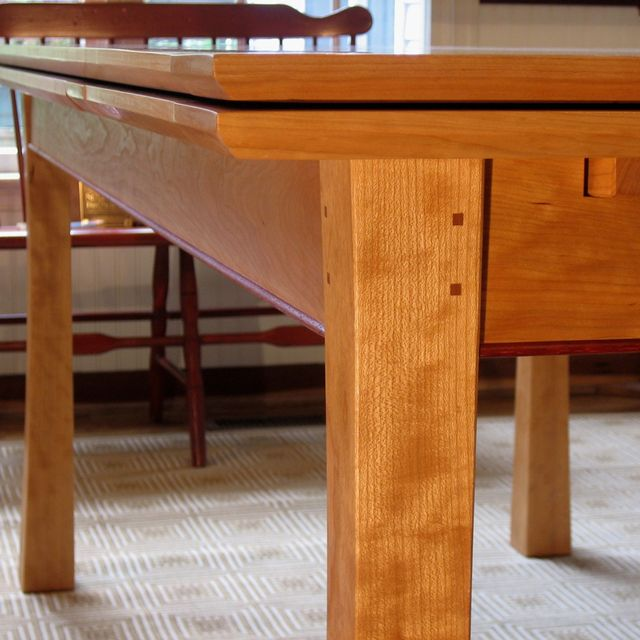 Hand Crafted Dutch Pull Out Dining Table By Joseph Murphy