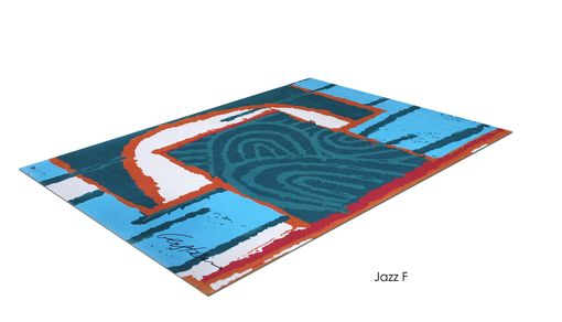 "Custom Made ""Jazz F"" Inspired By Israeli Artist, David Gerstein- Custom Rugs Collection By Allure Rug."