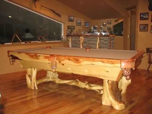 Custom Juniper Wood Pool Tables By Toby J S Llc