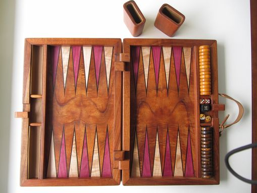 Custom Made Koa Inlaid Backgammon Set By Creative Artistry