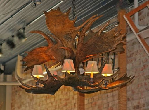 "Custom Made Moose Antler Chandelier ""Yukon"""