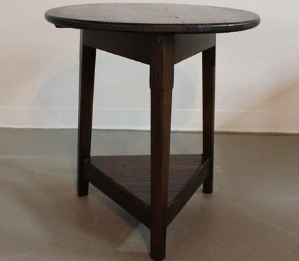 Custom Made 3 Legged Round End Table