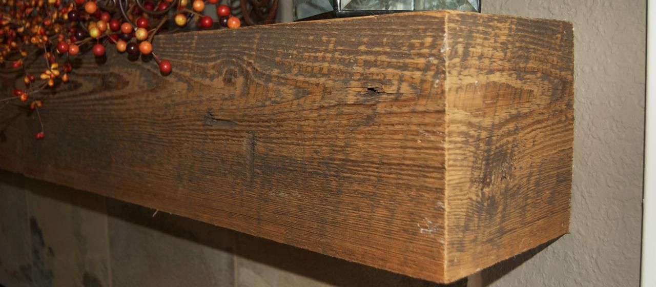 Buy A Hand Made Distressed Cedar Mantel Made To Order