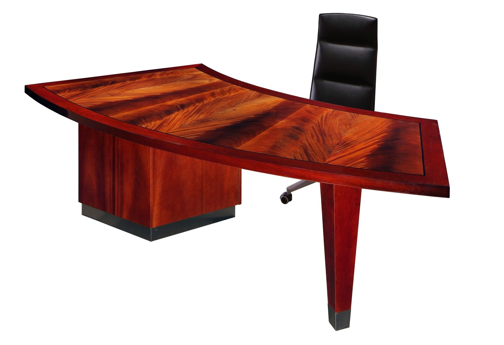 Handmade crescent desk by parnian contemporary modern for Most expensive office desk
