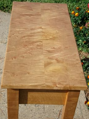 Custom Made Tiger Maple Hallway Table