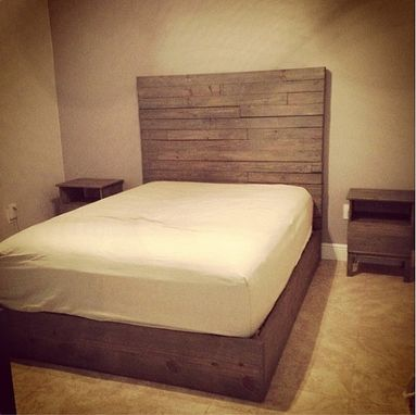Custom Made Rustic Headboard And Platform Bed