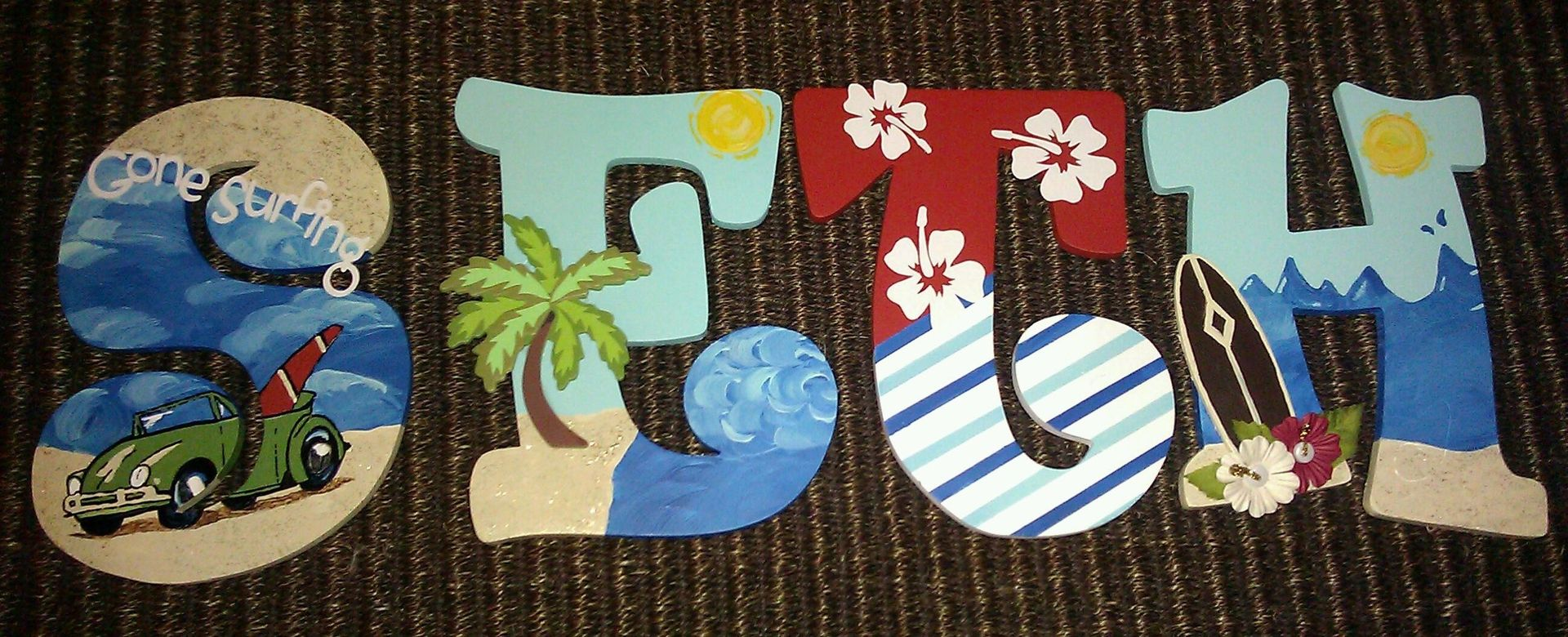 custom made custom painted wooden letters