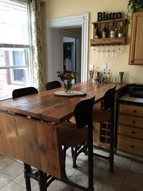 Custom Made Reclaimed Oak Bar/Counter