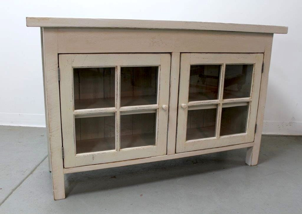 Hand Crafted Custom Made White Media Cabinet From Salvaged Barn Wood