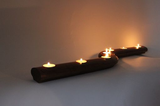 Custom Made Solid Cherry Candle Holder