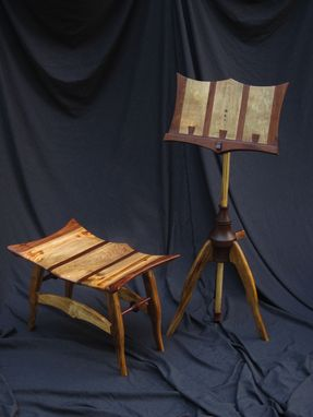 Custom Made Music Stand With Bench